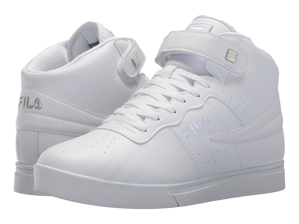 Fila Vulc 13 Mid Plus (White/Metallic Silver/White) Men