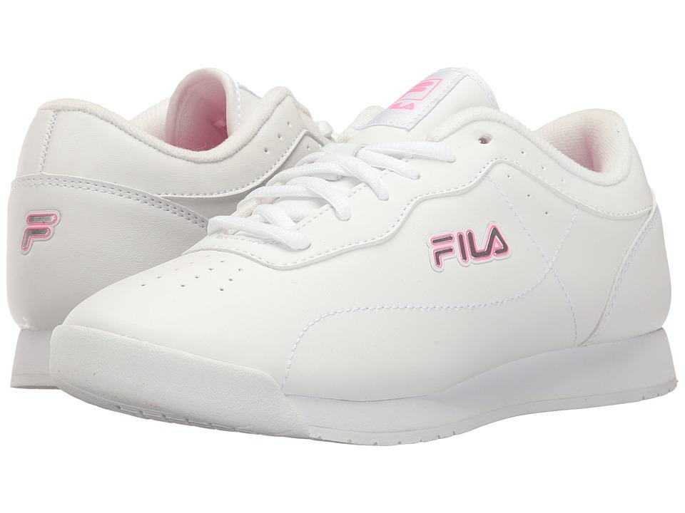 Fila Memory Viable (White/White/Sugarplum) Women