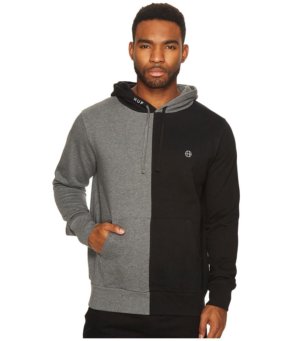 HUF - Henry Pullover Hoodie (Black/Charcoal Heather) Men's Sweatshirt