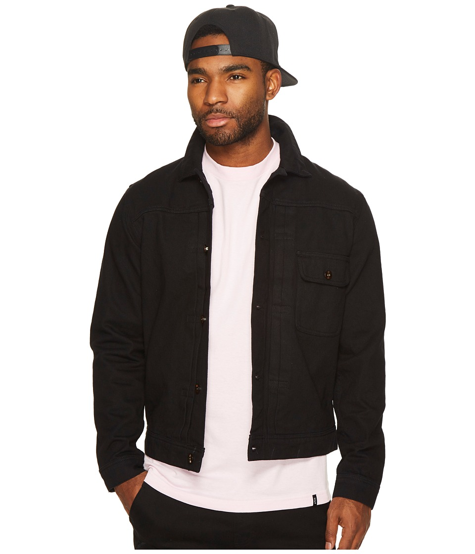 HUF - Type 1 Twill Jacket (Black) Men's Coat