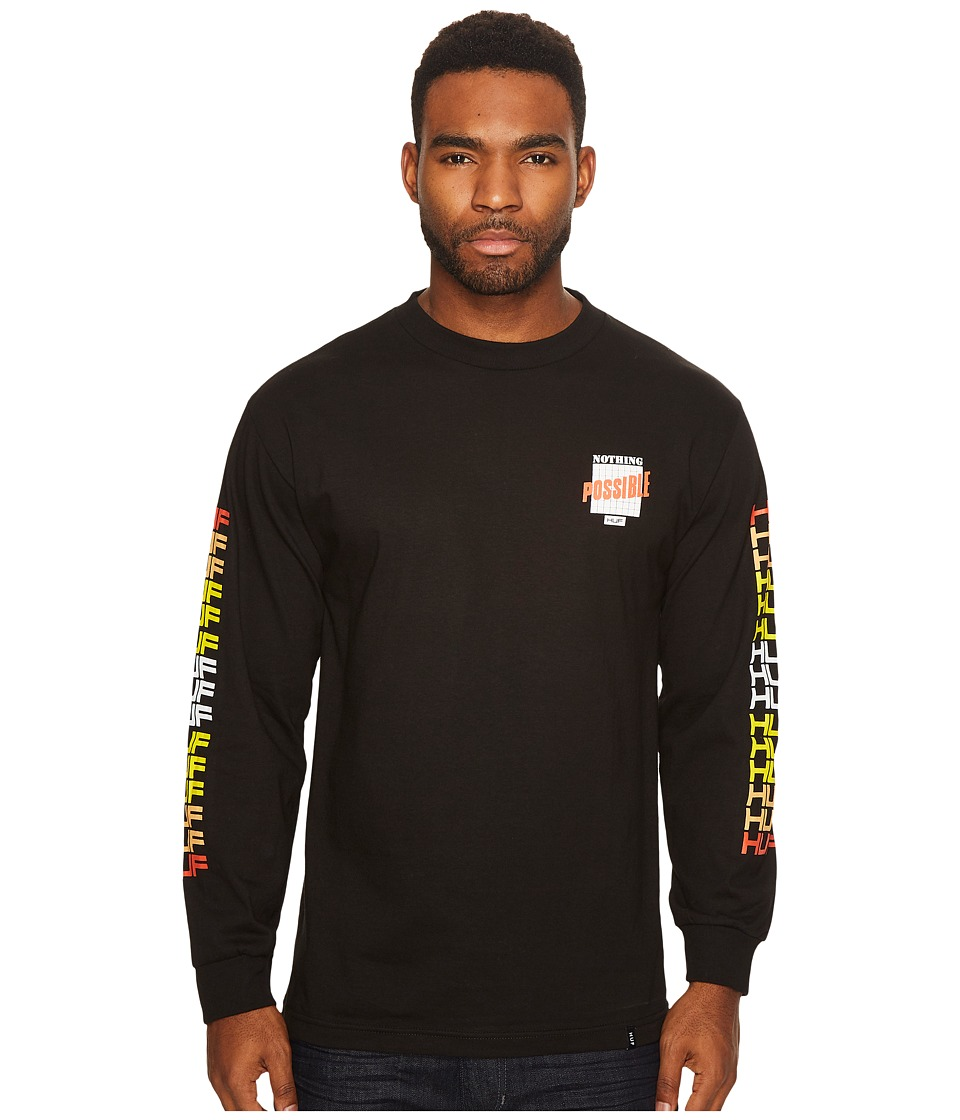 HUF - Possible Long Sleeve Tee (Black) Men's T Shirt