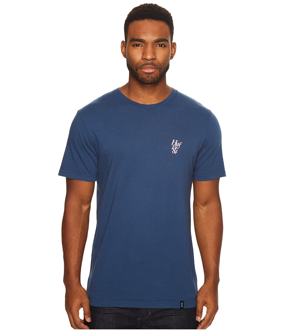 HUF - Country Club Overdye Tee (Navy) Men's T Shirt