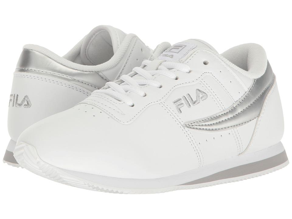 Fila Machu (White/White/Metallic Silver) Women