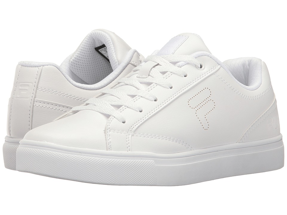 Fila - Amalfi Logo Perf (White/White/White) Women's Shoes