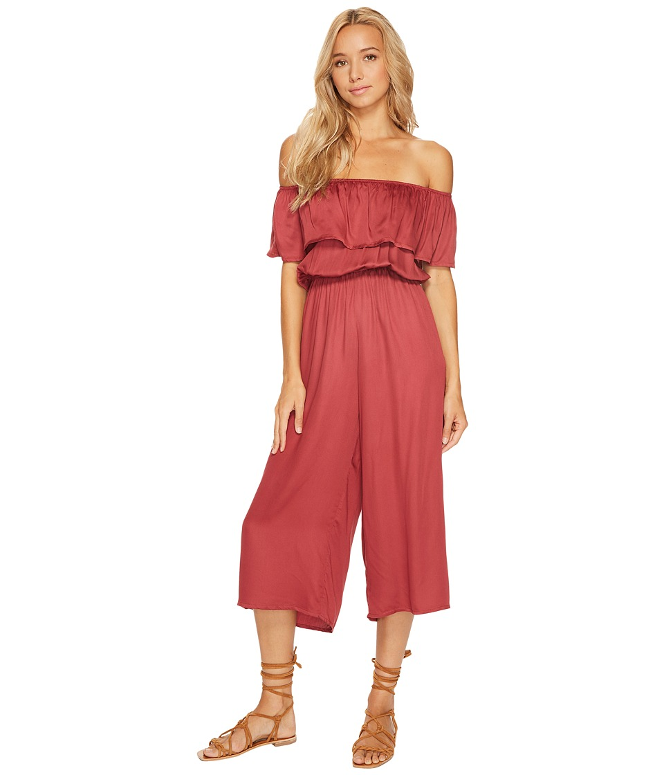 Billabong - Some Day Romper (Scarlet) Women's Jumpsuit & Rompers One Piece