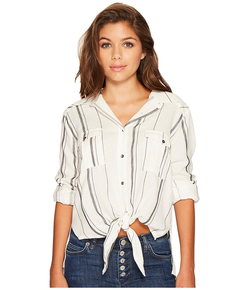 Billabong - Meadow Swing Woven Top (Black/White) Women's Clothing