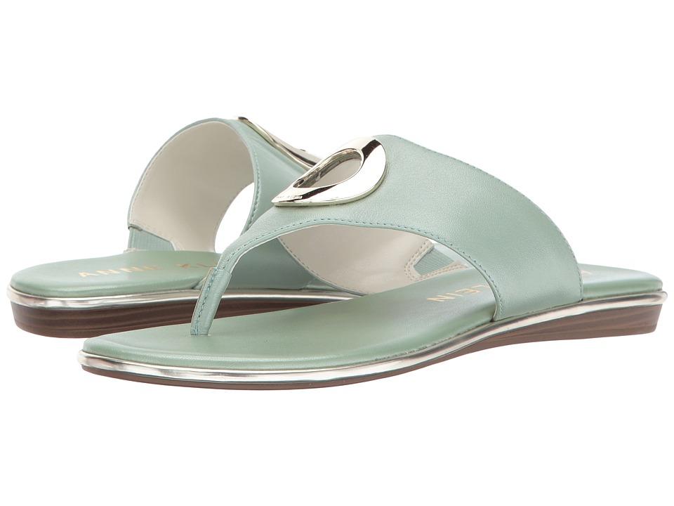 Anne Klein - Gia (Medium Green Leather) Women's Shoes