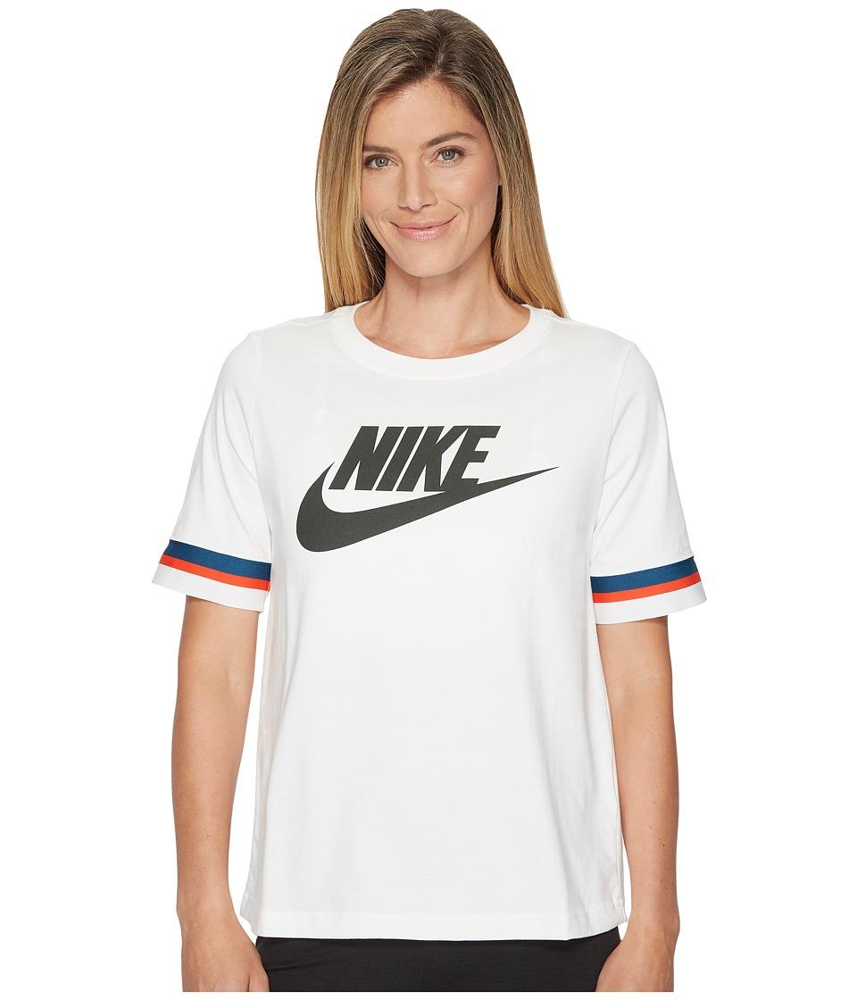 Nike Sportswear Stripes Top (Sail/Sequoia) Women