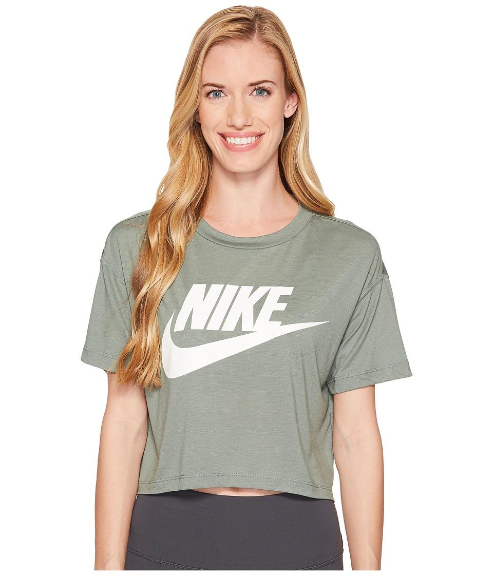 Nike Sportswear Essential Crop Top (Clay Green/Clay Green/White) Women