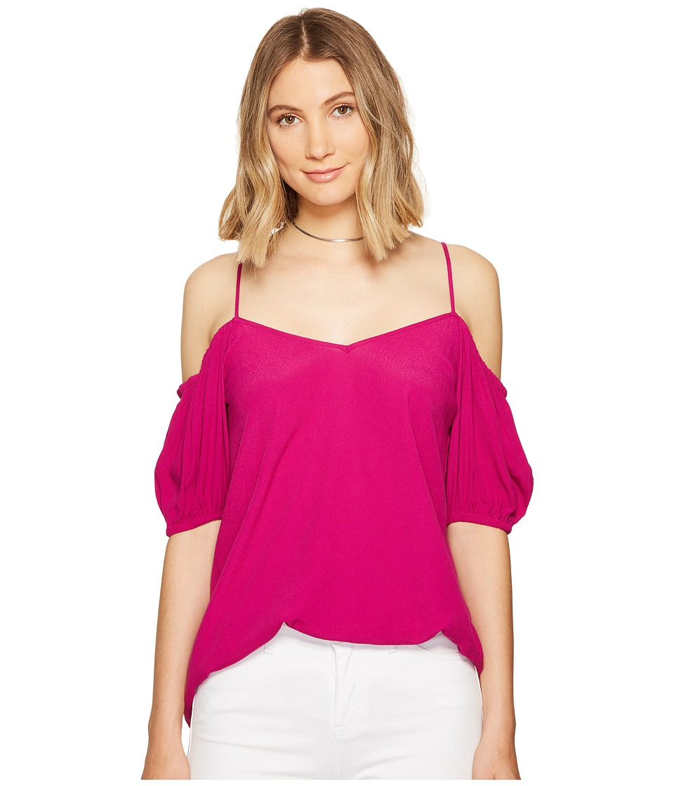 1.STATE - Cold Shoulder Puff Sleeve (Tropical Berry) Women's Clothing