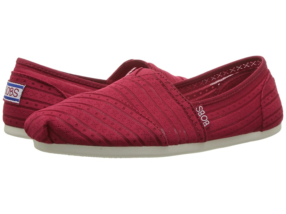 BOBS from SKECHERS Bobs Plush Urban Rose (Red) Women