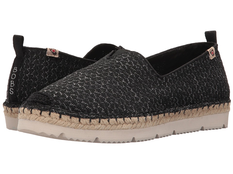 BOBS from SKECHERS Flexpadrille2 Vacationers (Black Gray) Women