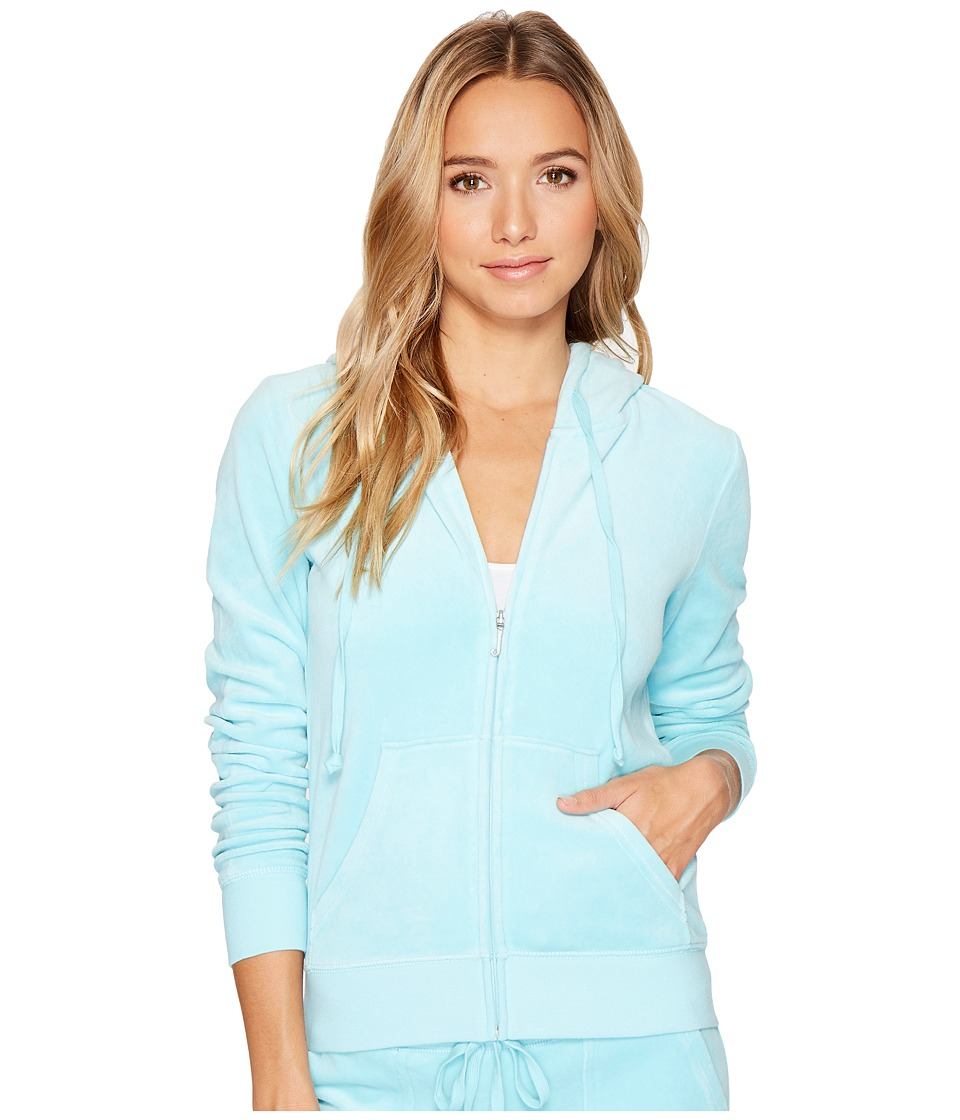 Juicy Couture - Robertson Velour Jacket (Angel Blue) Women's Coat