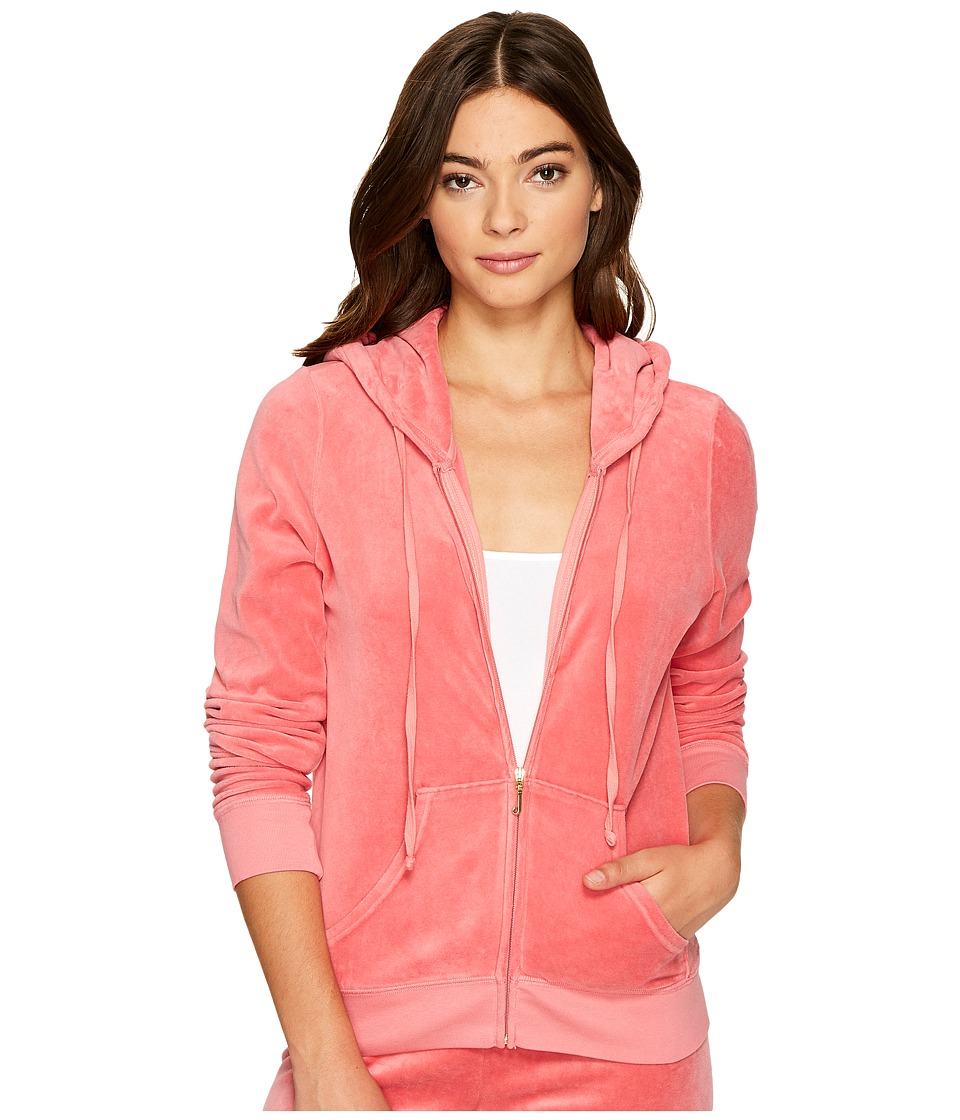 Juicy Couture - Robertson Velour Jacket (Frozen Strawberry) Women's Coat