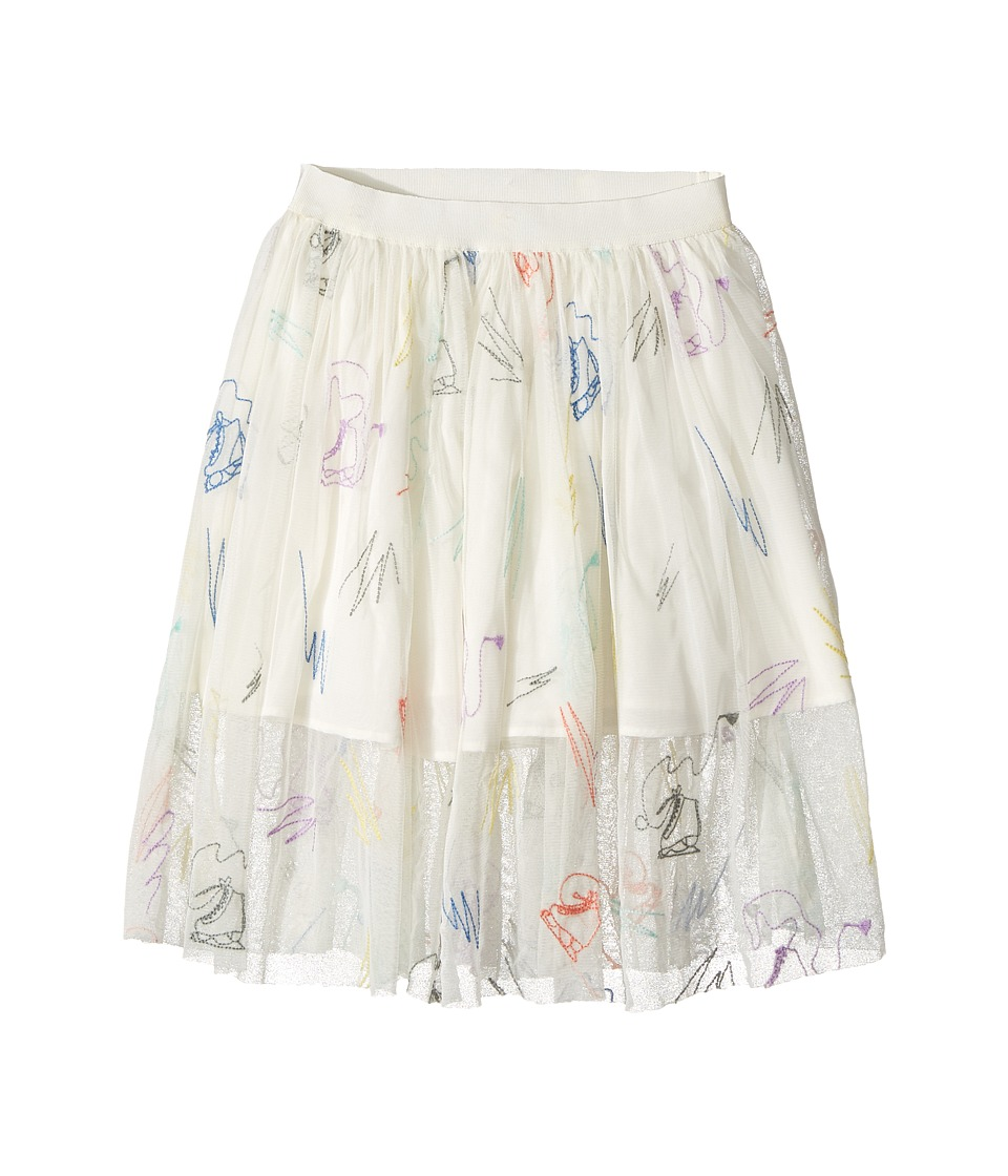 Stella McCartney Kids - Darci Tulle Skirt with Skates Embroidery (Toddler/Little Kids/Big Kids) (Cream) Girl's Skirt