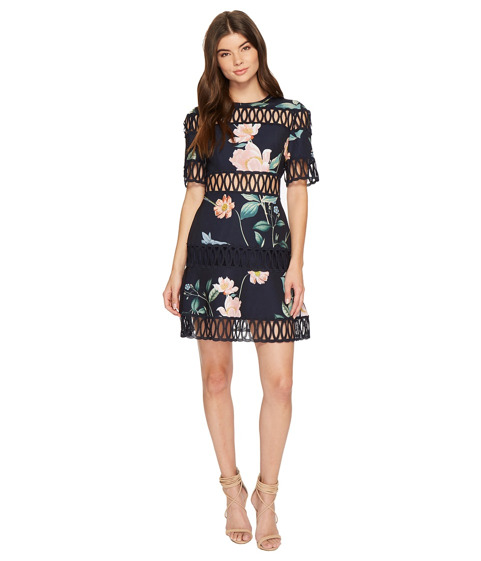 KEEPSAKE THE LABEL Whispers Dress (Navy Garden Floral) Women