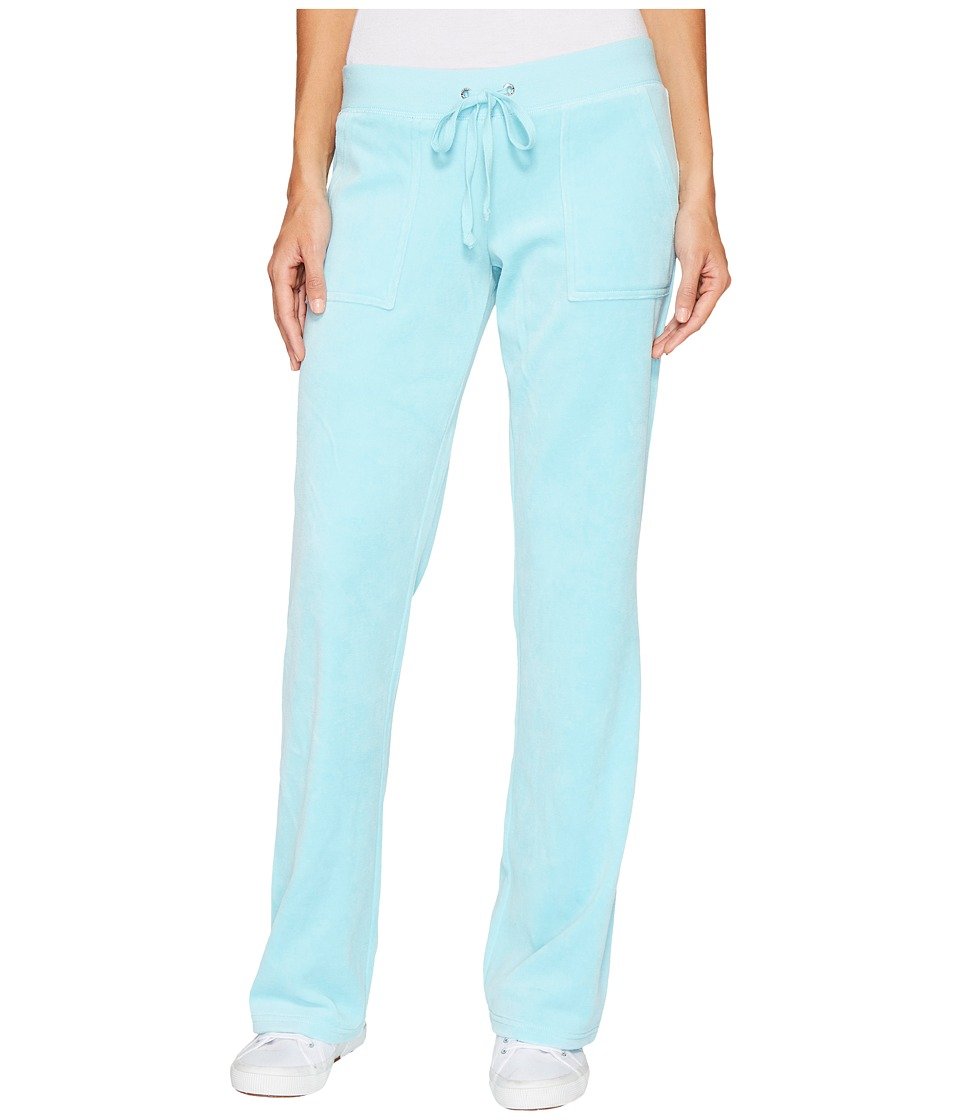 Juicy Couture - Del Rey Velour Pants (Angel Blue) Women's Casual Pants