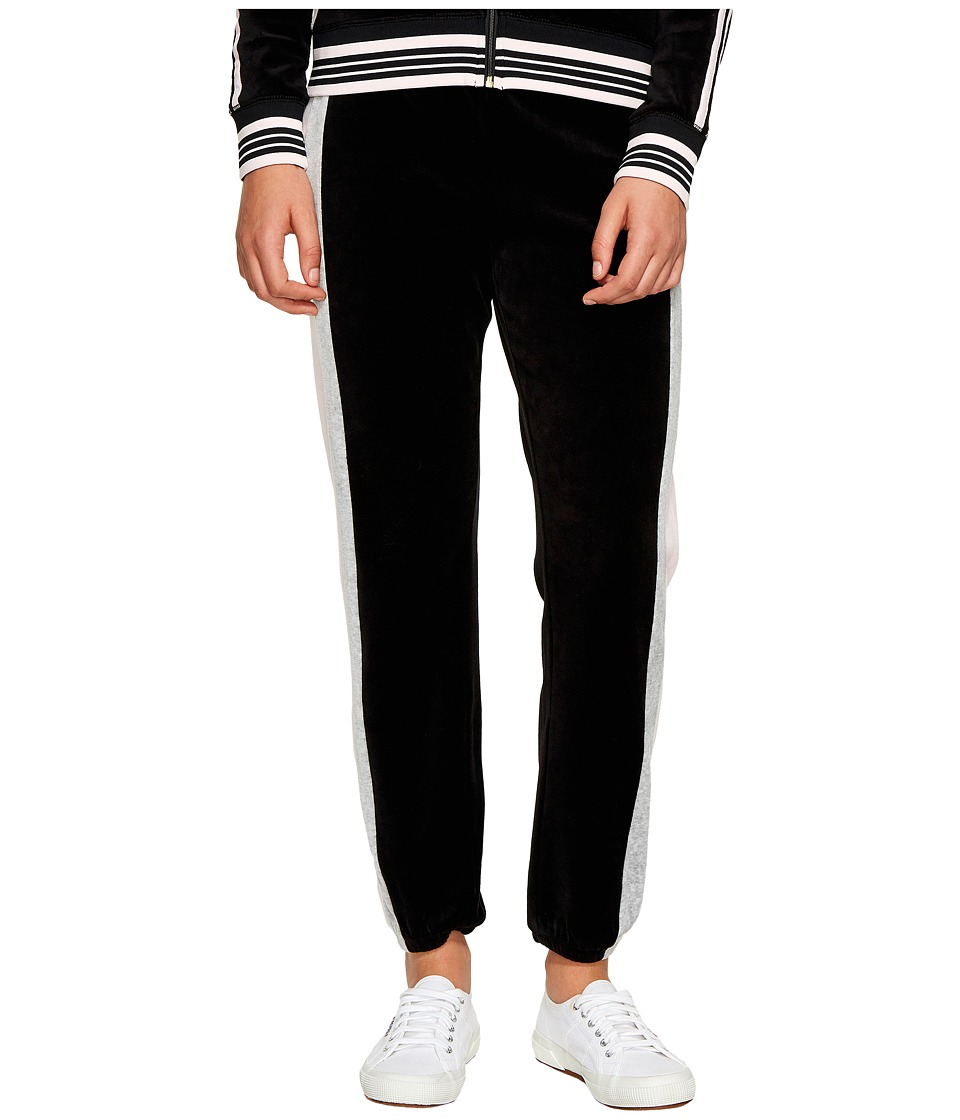 Juicy Couture - Sporty Heritage Mid-Rise Pants (Pitch Black) Women's Casual Pants
