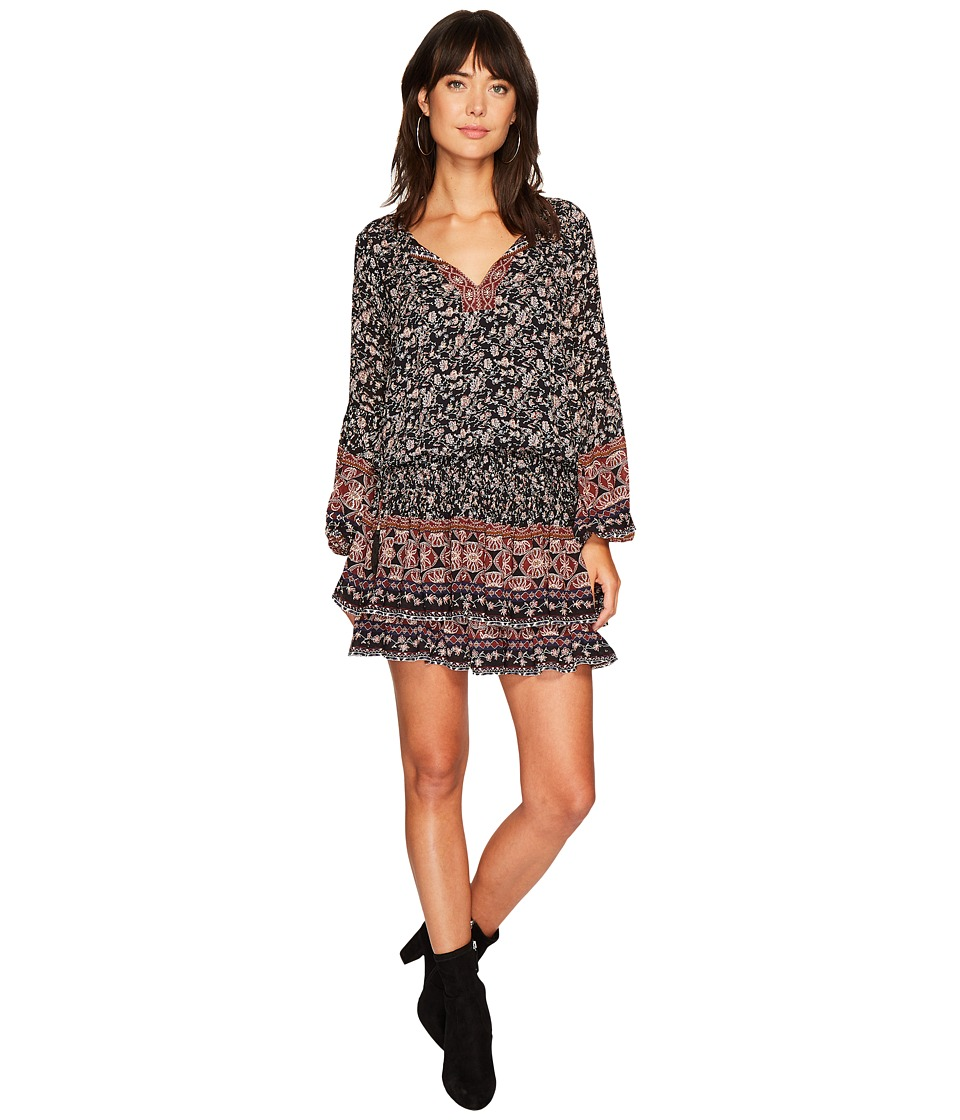 ASTR the Label Stella Dress (Black Multi Border) Women