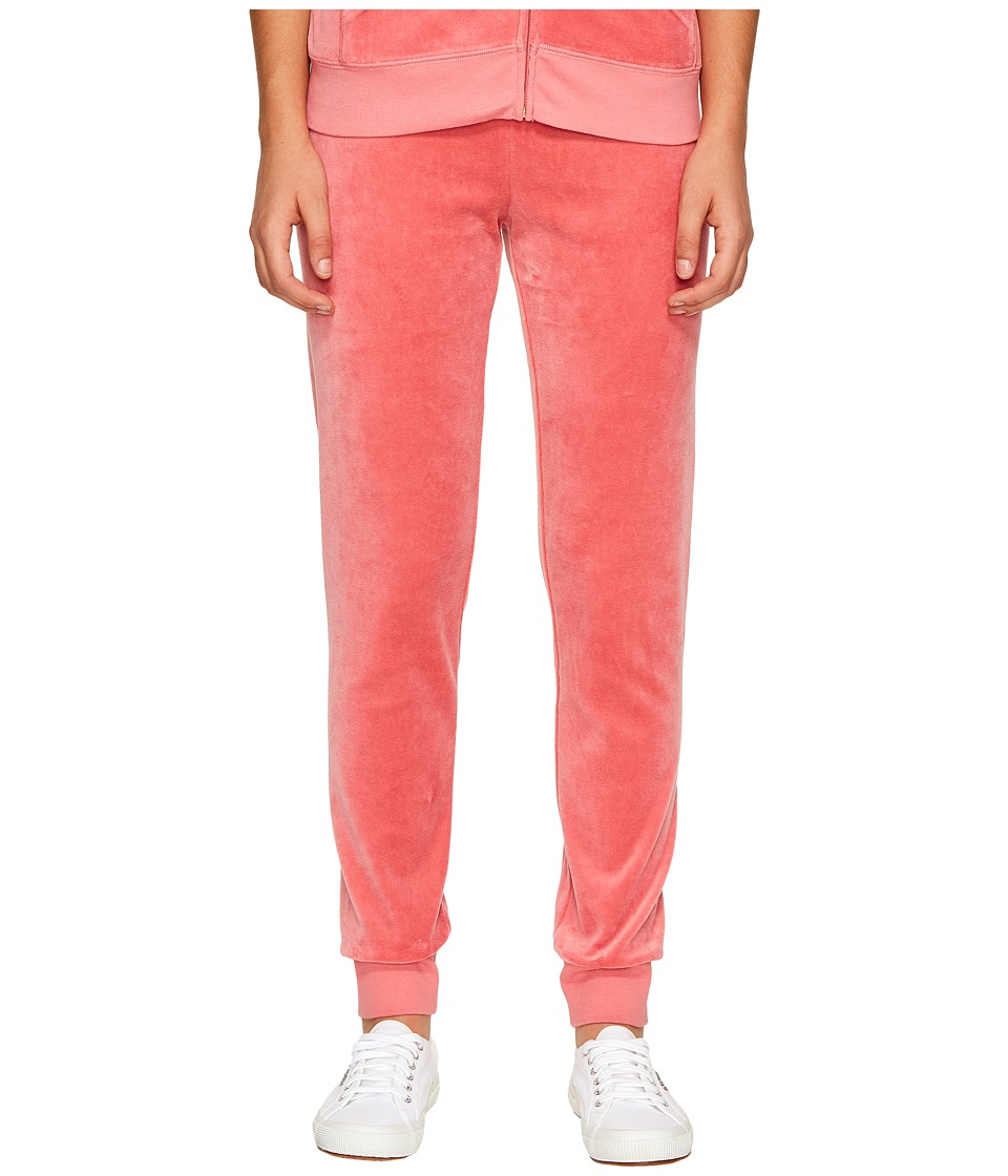 Juicy Couture - Zuma Velour Pants (Frozen Strawberry) Women's Casual Pants