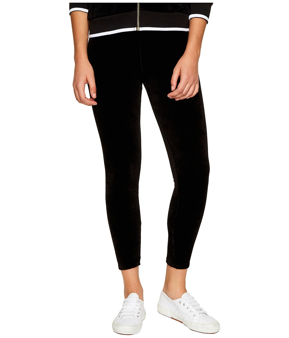 Juicy Couture - Stretch Velour Rodeo Drive Leggings (Pitch Black) Women's Casual Pants
