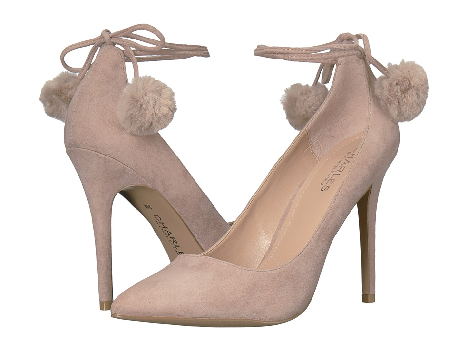 Charles by Charles David Petunia (Dark Taupe Suede/Faux Fur) High Heels