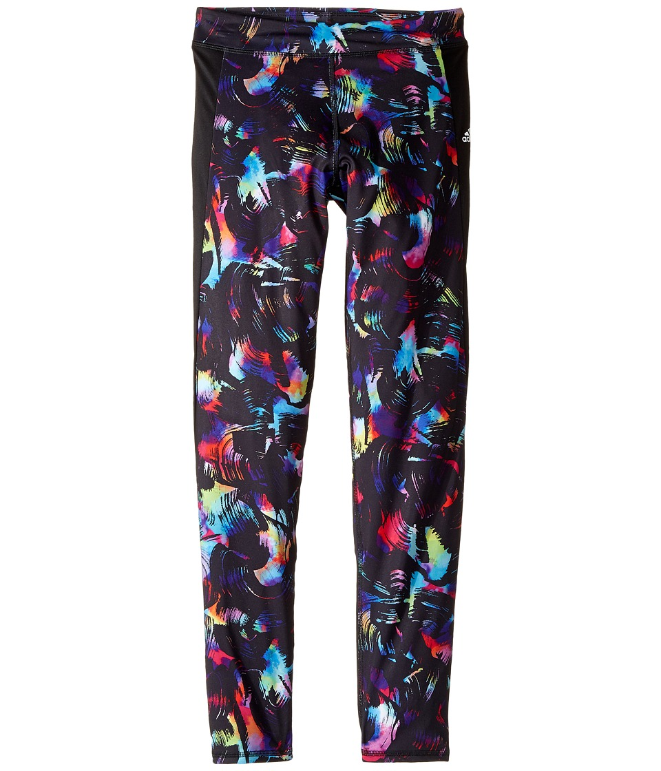 adidas Kids - Go with The Flow Tights (Big Kids) (Black Print) Girl's Casual Pants