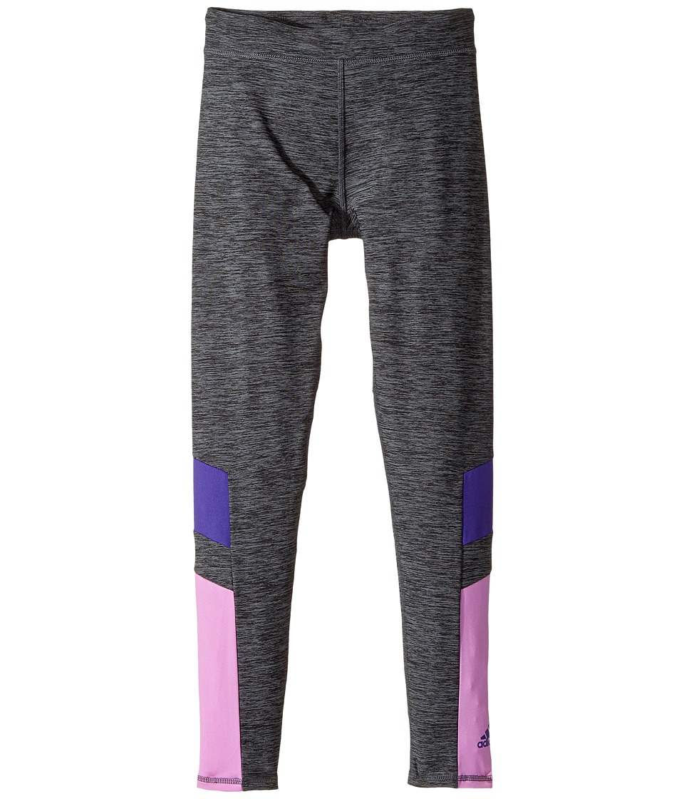 adidas Kids - Invincible Tights (Big Kids) (Grey/Purple) Girl's Casual Pants