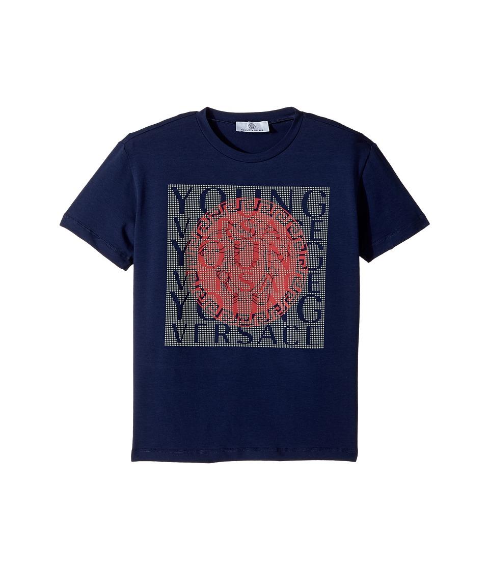 Etounes versace mens medusa logo diamond pattern silk for Diamond and silk t shirts