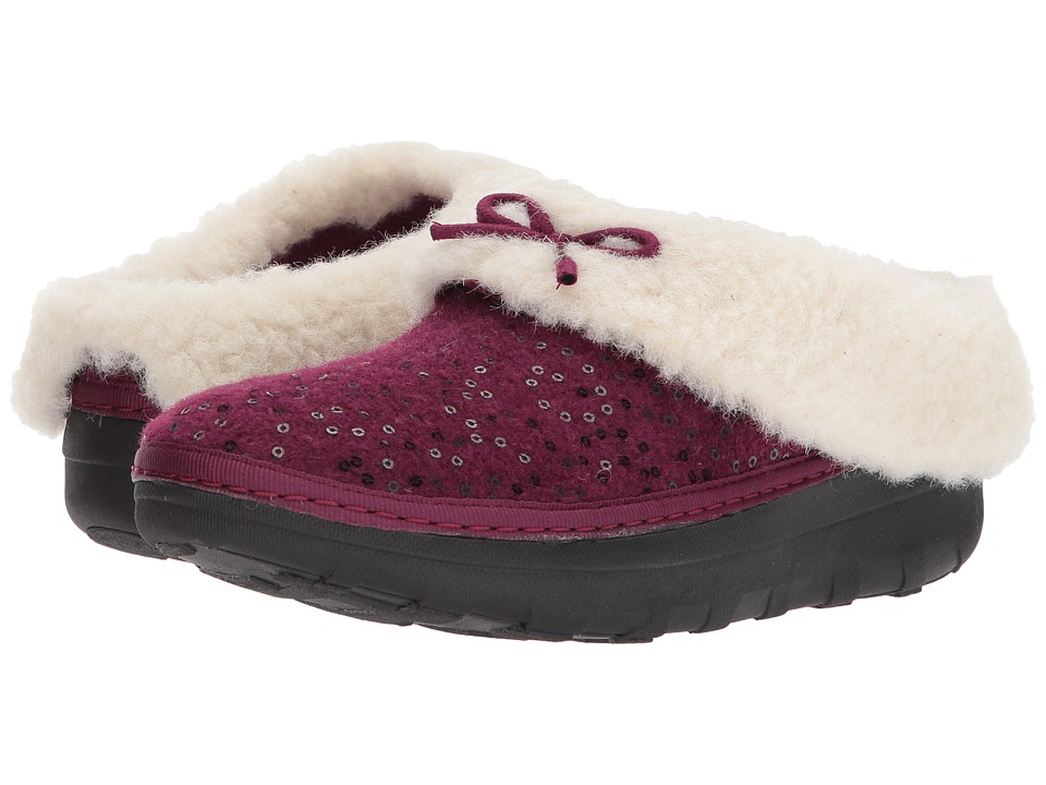 FitFlop Loaff Snug Sequin Slipper (Deep Plum 1) Women