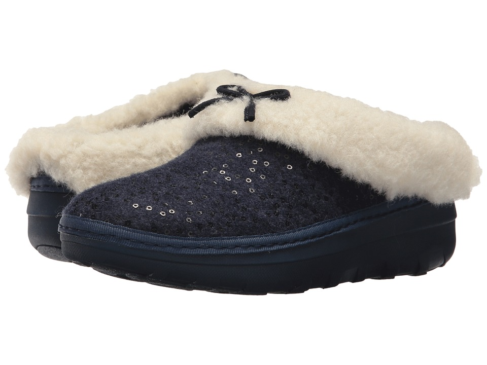 FitFlop Loaff Snug Sequin Slipper (Midnight Navy 1) Women