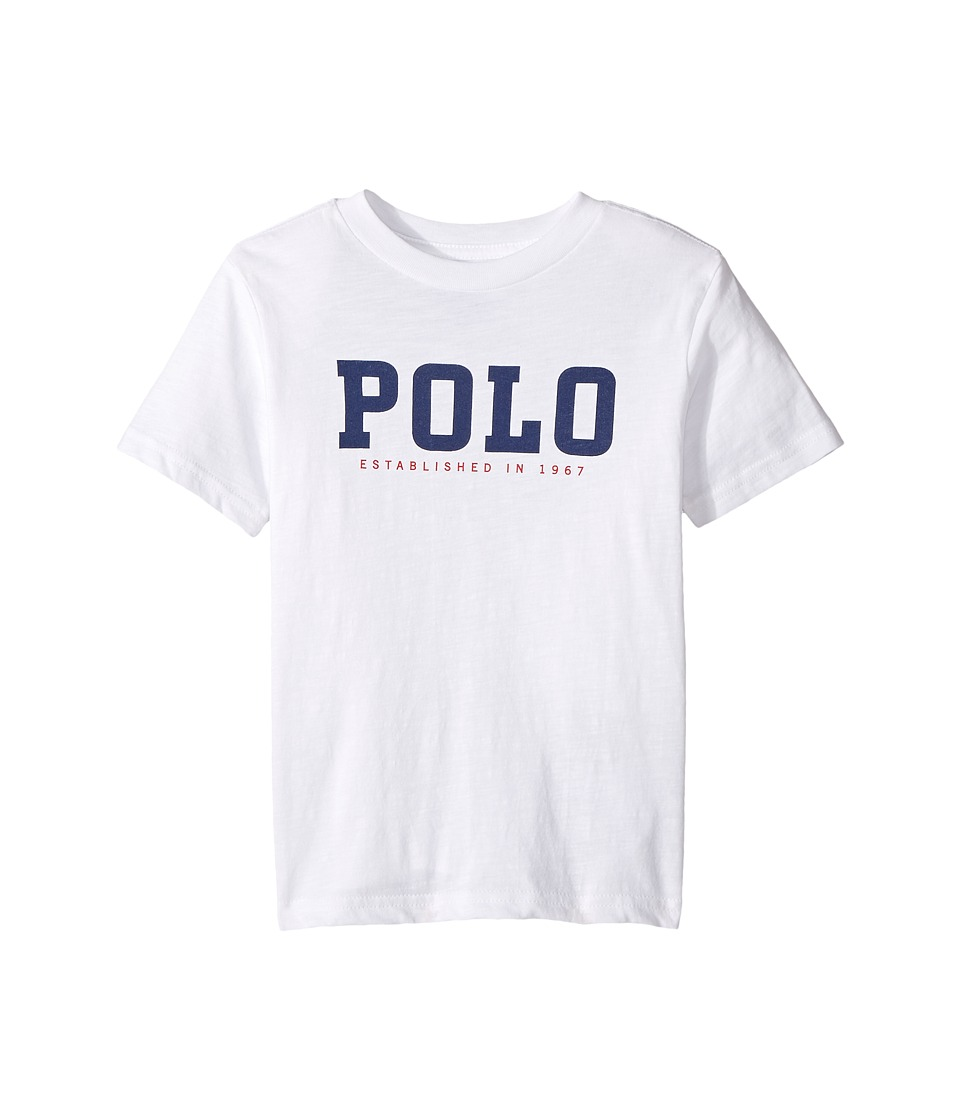 Polo Ralph Lauren Kids - Slub Cotton Jersey Graphic Tee (Toddler) (White) Boy's T Shirt