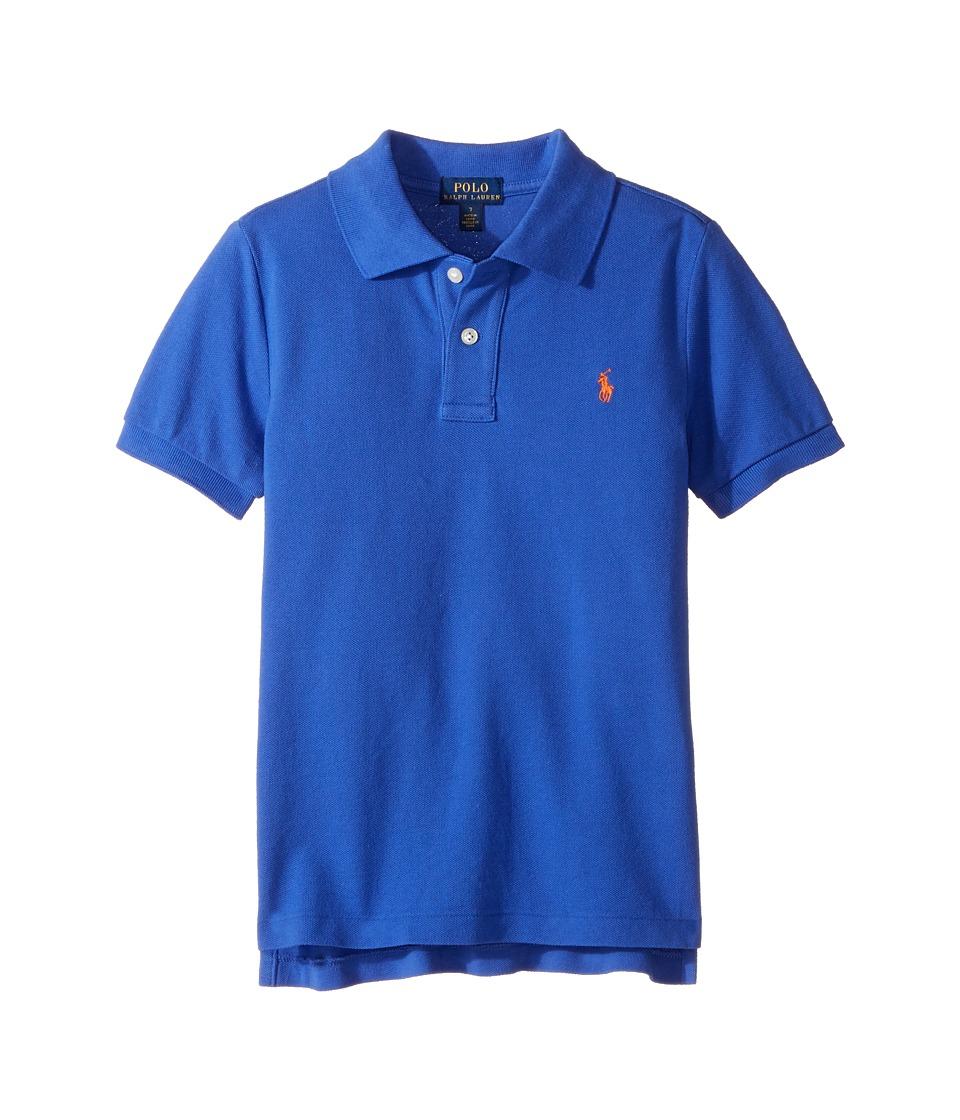 Polo Ralph Lauren Kids - Cotton Mesh Polo Shirt (Little Kids/Big Kids) (Barclay Blue) Boy's Short Sleeve Pullover