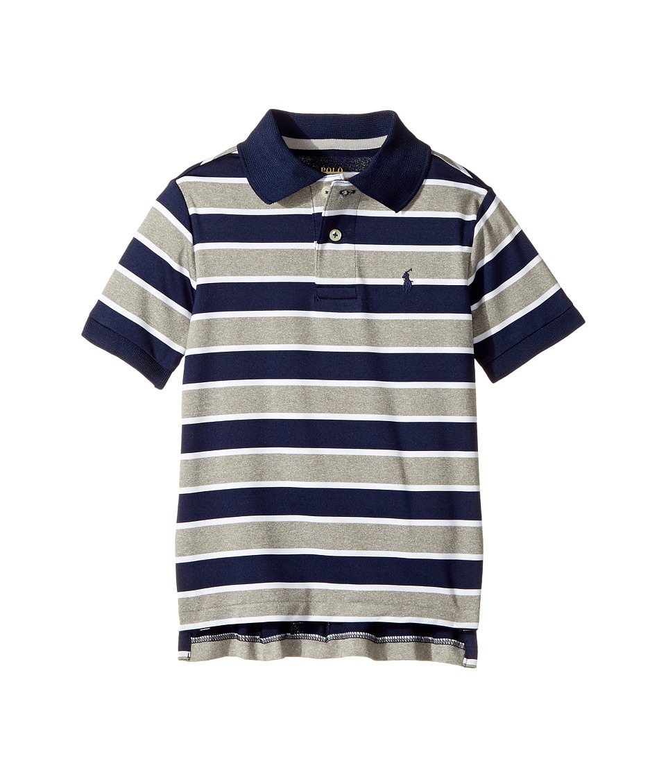 Polo Ralph Lauren Kids - Performance Lisle Polo Top (Little Kids/Big Kids) (Andover Grey Heather) Boy's Short Sleeve Pullover