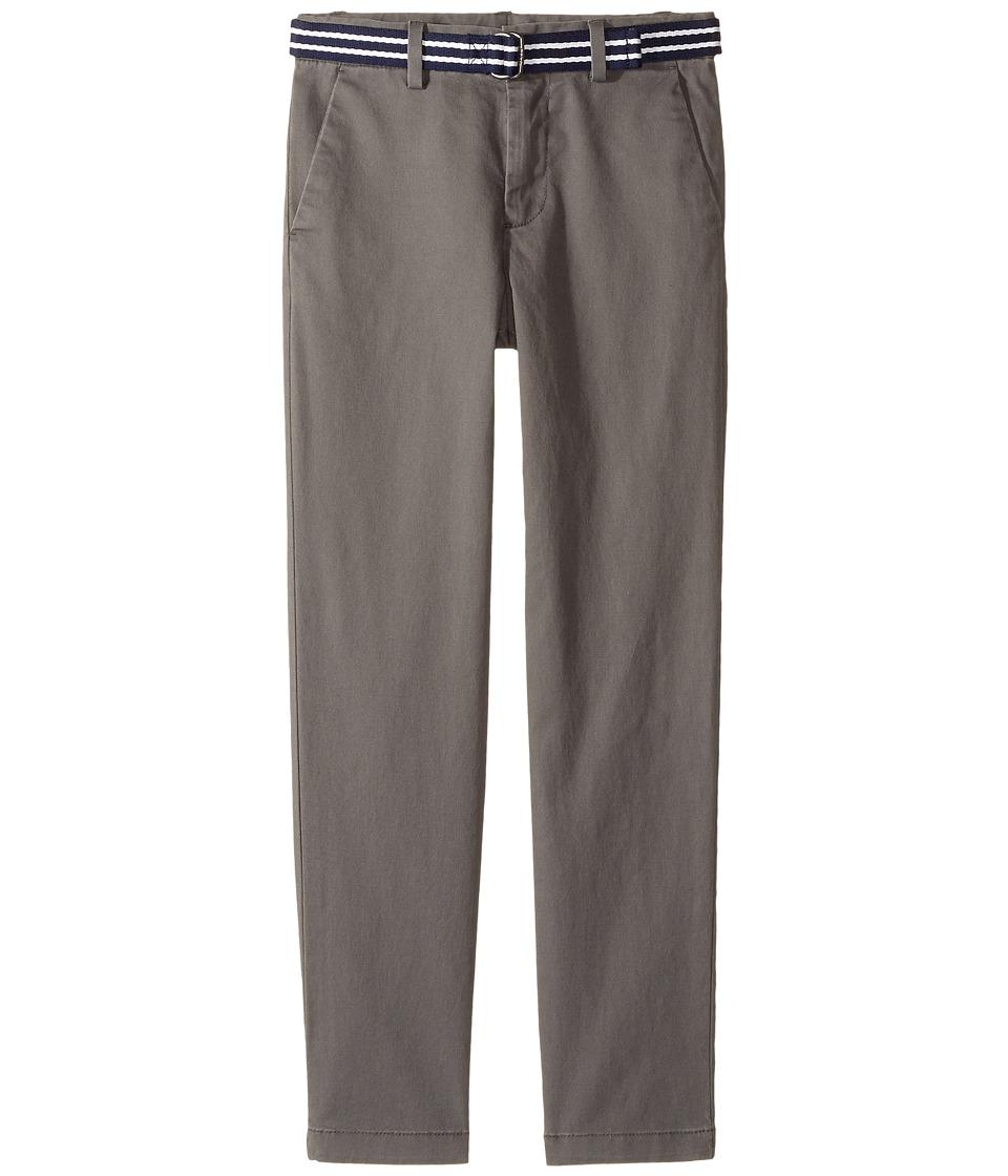 Polo Ralph Lauren Kids - Belted Stretch Cotton Chino Pants (Little Kids) (Regent Grey) Boy's Casual Pants