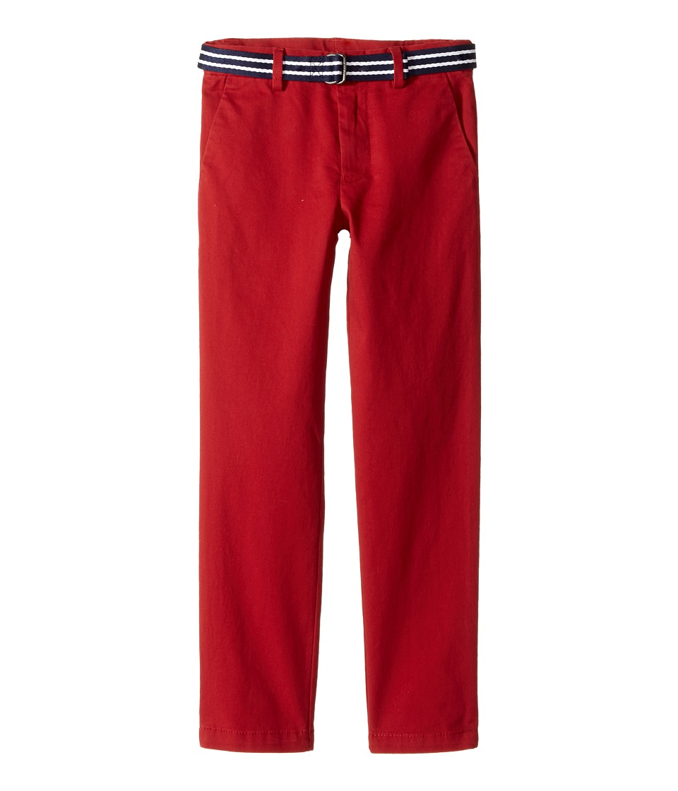 Polo Ralph Lauren Kids - Belted Stretch Cotton Chino Pants (Little Kids) (Camden Red) Boy's Casual Pants