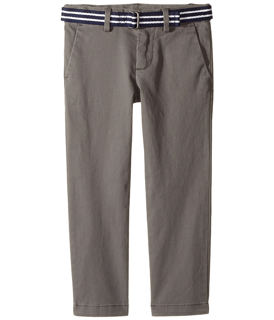 Polo Ralph Lauren Kids - Belted Stretch Cotton Chino Pants (Toddler) (Regent Grey) Boy's Casual Pants