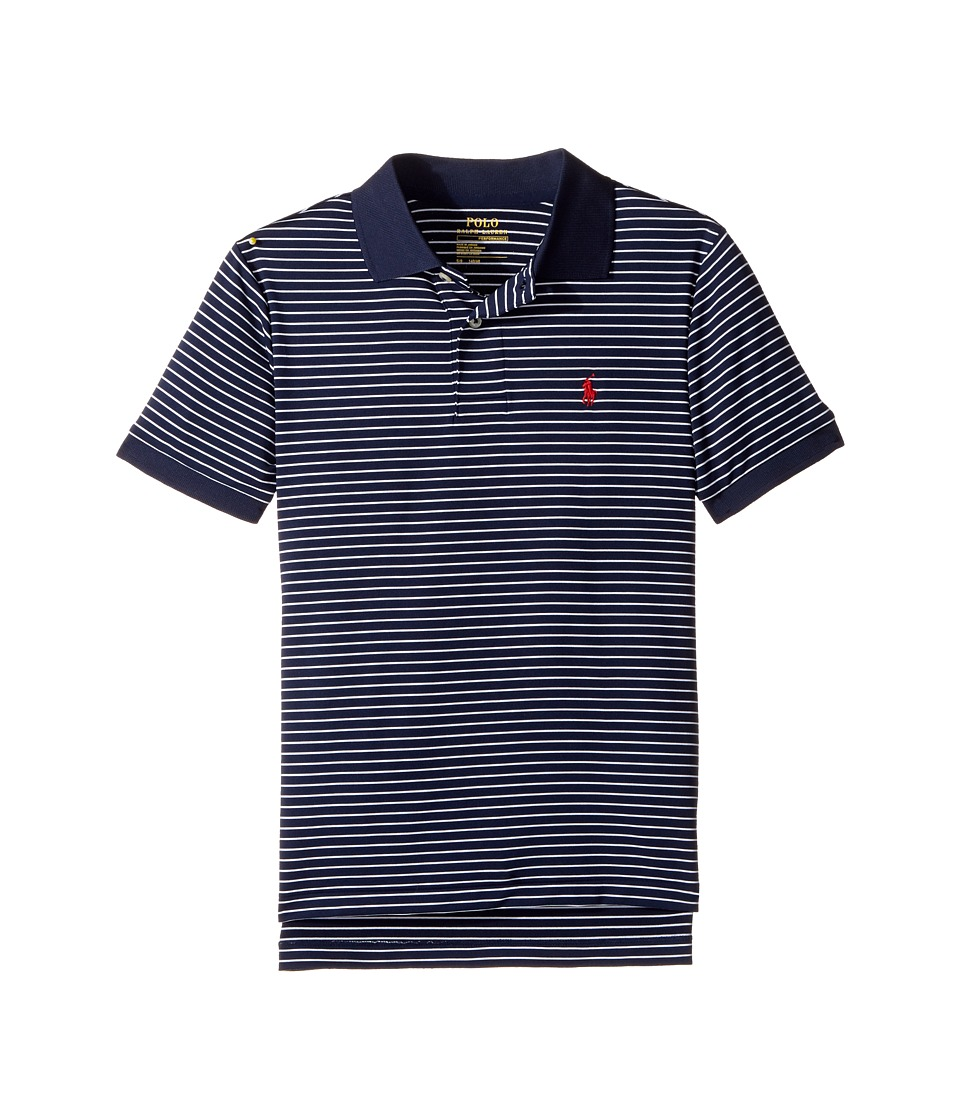 Polo Ralph Lauren Kids - Performance Lisle Polo Top (Big Kids) (French Navy Multi) Boy's Short Sleeve Pullover