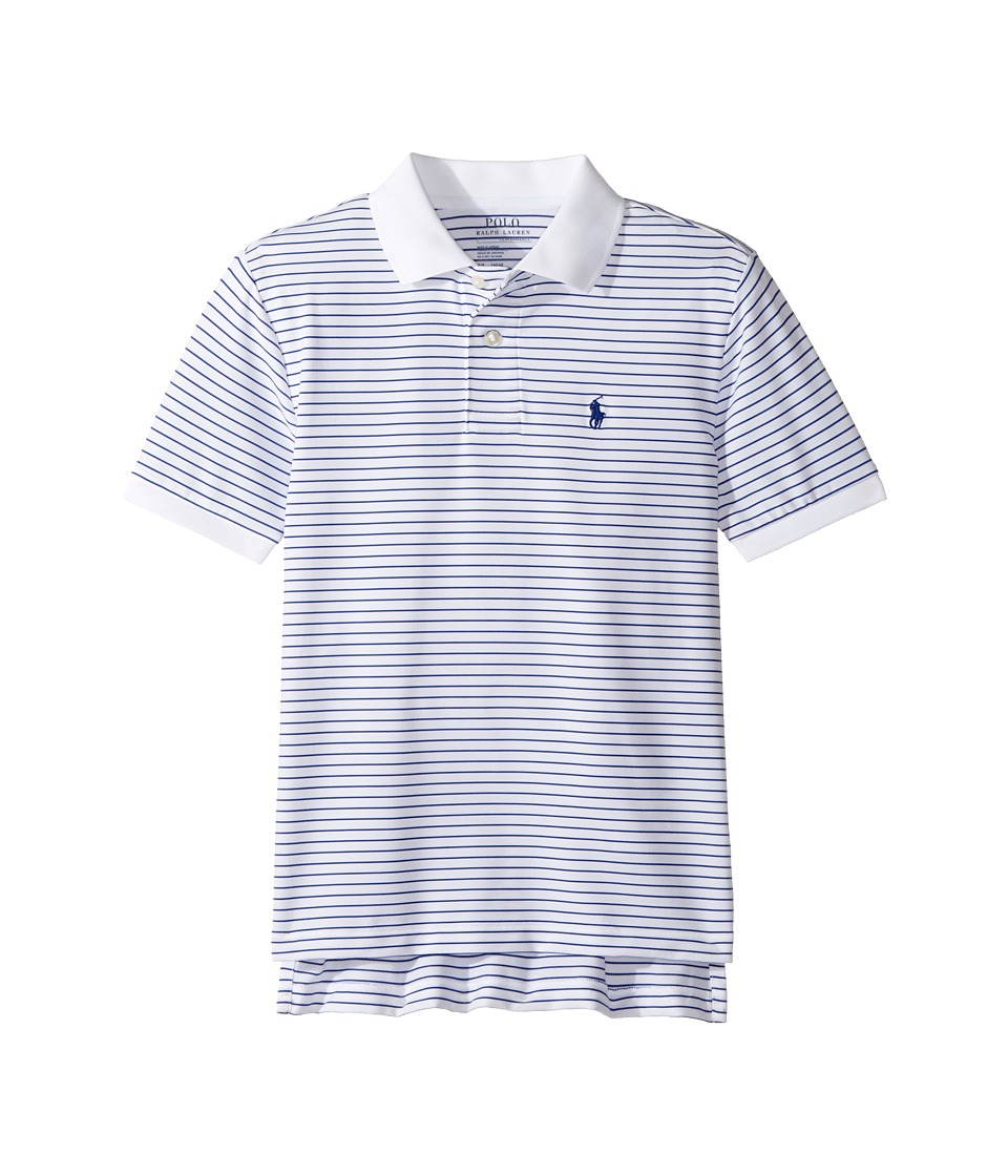 Polo Ralph Lauren Kids - Performance Lisle Polo Top (Big Kids) (White Multi) Boy's Short Sleeve Pullover