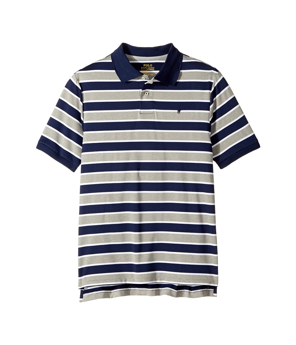 Polo Ralph Lauren Kids - Performance Lisle Polo Top (Big Kids) (Andover Grey Heather) Boy's Short Sleeve Pullover