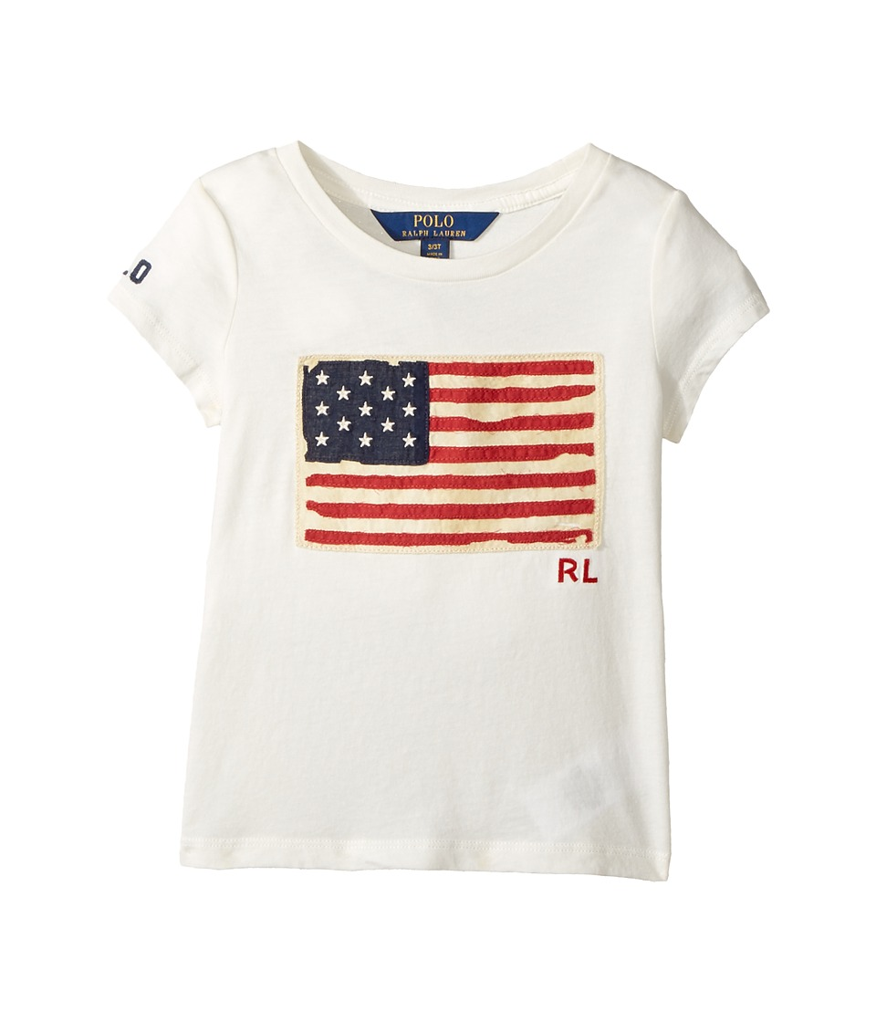 Polo Ralph Lauren Kids - Washed Cotton Graphic Tee (Toddler) (Nevis) Girl's T Shirt