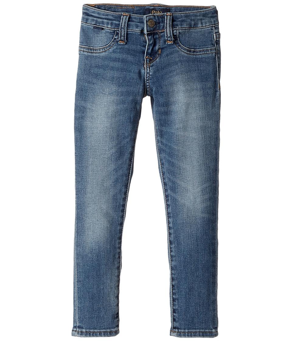 Polo Ralph Lauren Kids - Aubrie Denim Leggings in Austin Wash (Little Kids) (Austin Wash) Girl's Casual Pants