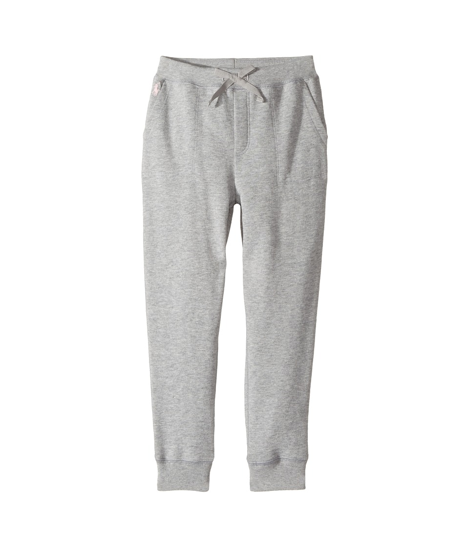 Polo Ralph Lauren Kids - French Terry Jogger Pants (Little Kids) (Andover Heather) Girl's Casual Pants