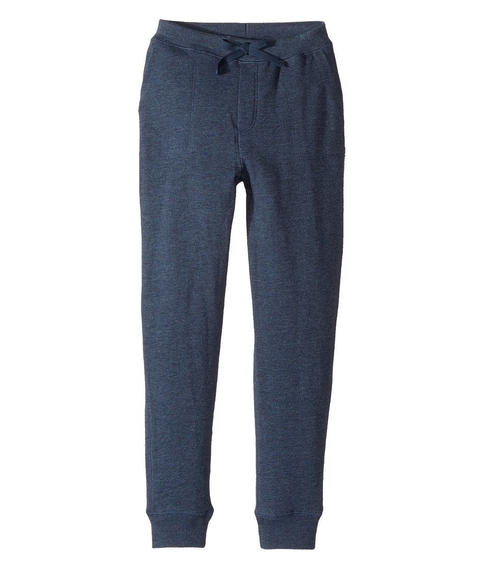 Polo Ralph Lauren Kids - French Terry Jogger Pants (Little Kids) (Indigo Blue Heather) Girl's Casual Pants