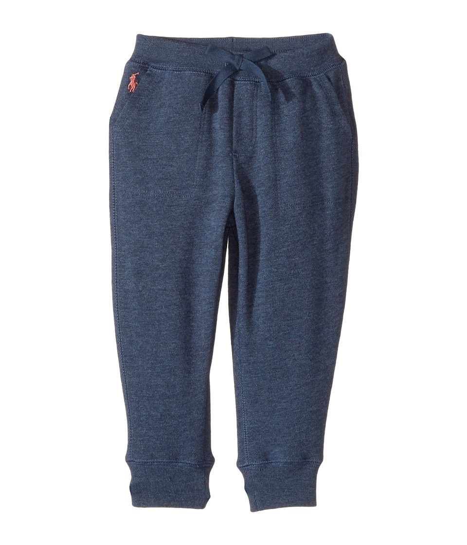 Polo Ralph Lauren Kids - French Terry Jogger Pants (Toddler) (Indigo Blue Heather) Girl's Casual Pants