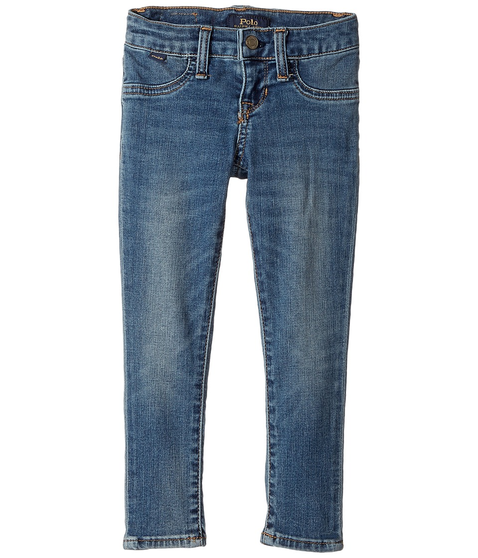 Polo Ralph Lauren Kids - Aubrie Denim Leggings in Austin Wash (Toddler) (Austin Wash) Girl's Casual Pants