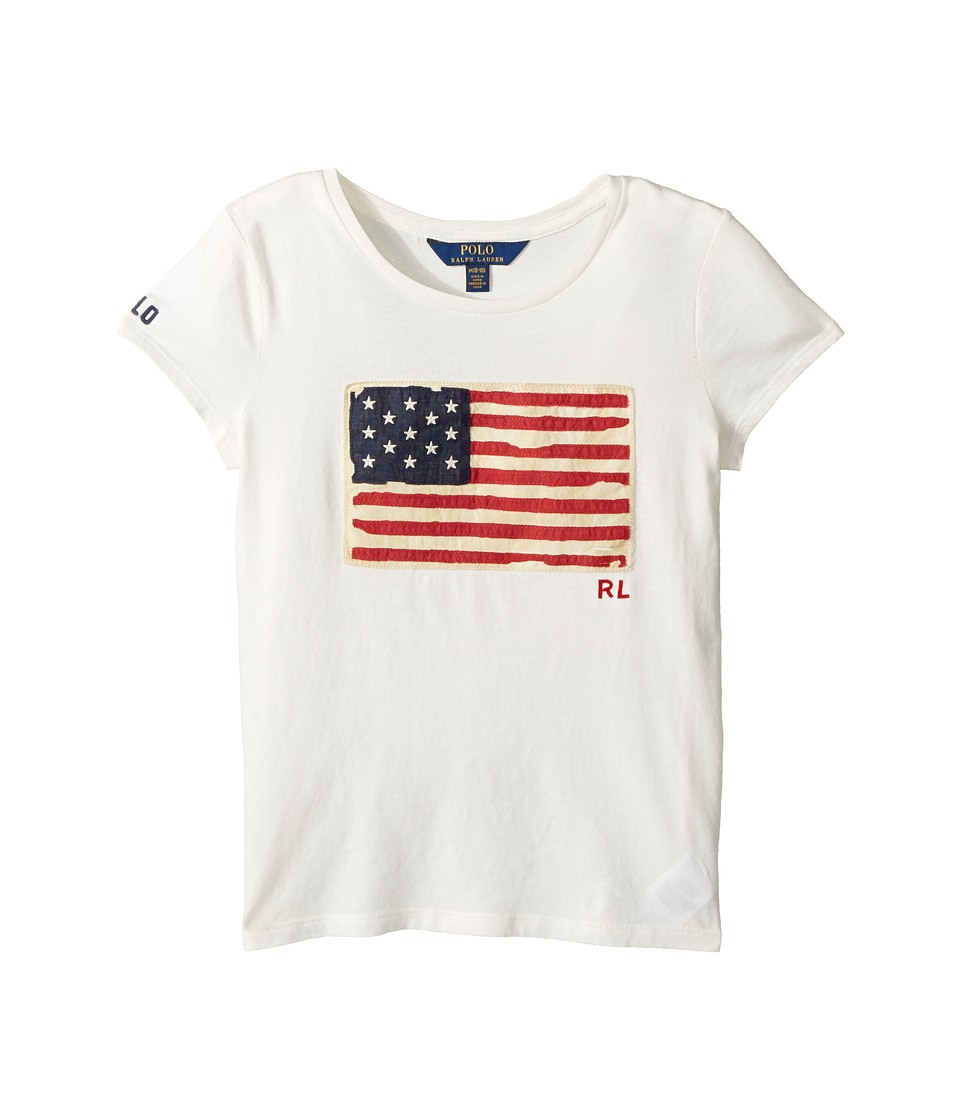 Polo Ralph Lauren Kids - Washed Cotton Graphic Tee (Little Kids/Big Kids) (Nevis) Girl's T Shirt
