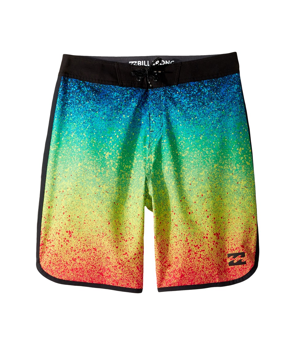 Billabong Kids 73 X Line Up Boardshorts (Big Kids) (Neon) Boy