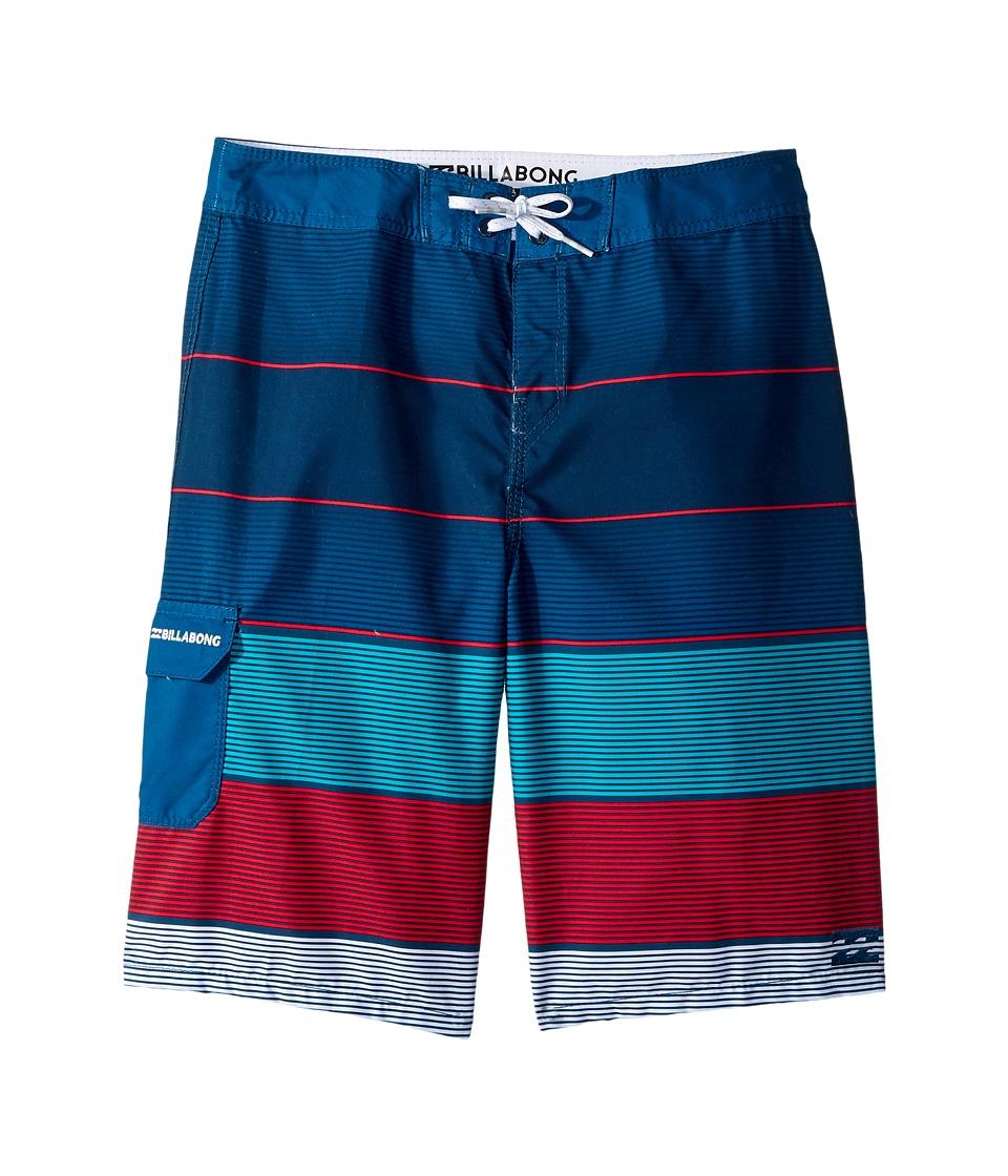 Billabong Kids All Day OG Stripe Boardshorts (Big Kids) (Aqua 2) Boy