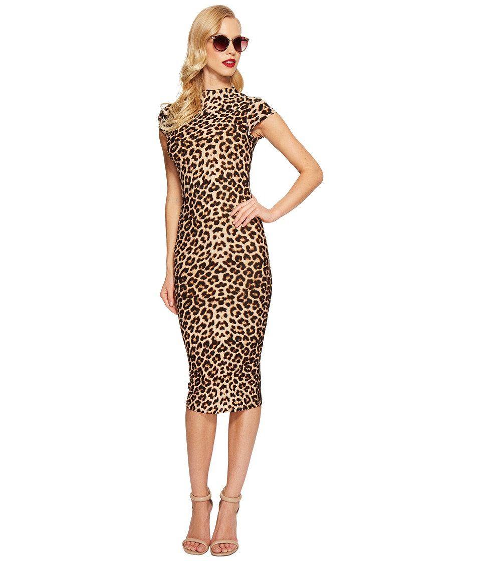 Unique Vintage - Holly Wiggle Dress (Leopard) Women's Dress